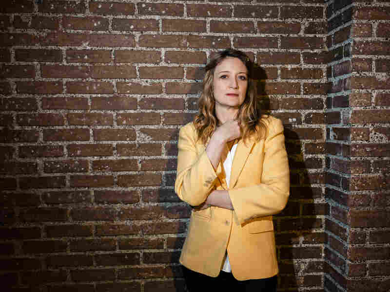 """""""What the Constitution Means to Me"""" playwright and star Heidi Schreck backstage at the Helen Hayes theatre in New York, NY on March 21, 2019."""