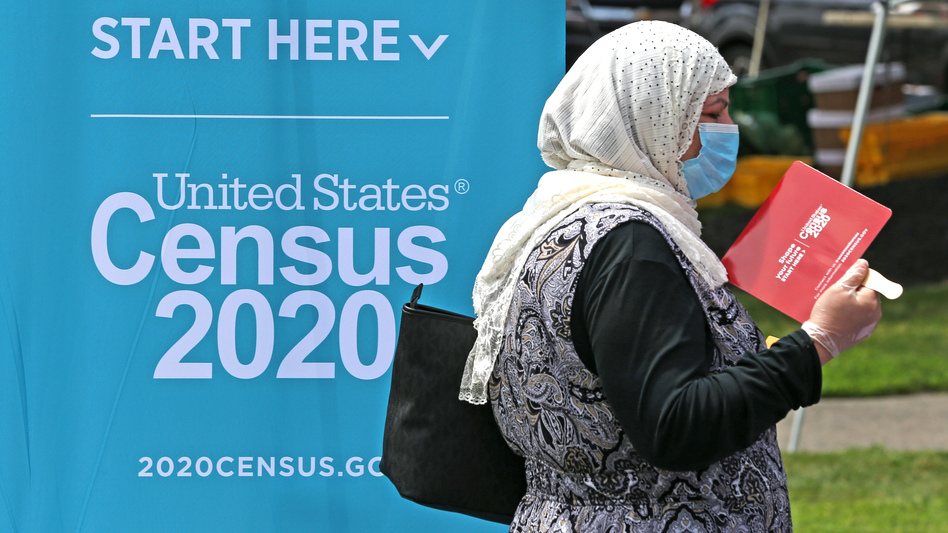 The 2020 census has been disrupted by the coronavirus pandemic, historic hurricane and wildfire seasons, last-minute schedule changes, and President Trump's call to leave unauthorized immigrants out of a key census count. (David L. Ryan/The Boston Globe via Getty Images)