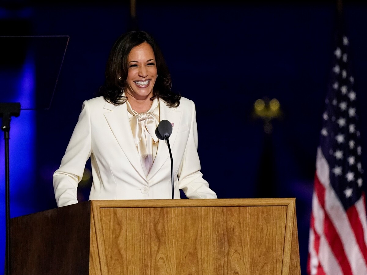 Kamala Harris makes history as first woman of color