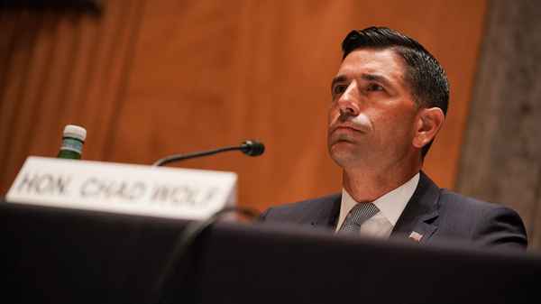 Chad Wolf, the acting secretary of homeland security, is pictured on Sept. 23. A federal judge said he was not authorized to issue a July memo limiting the restrictions of DACA recipients.