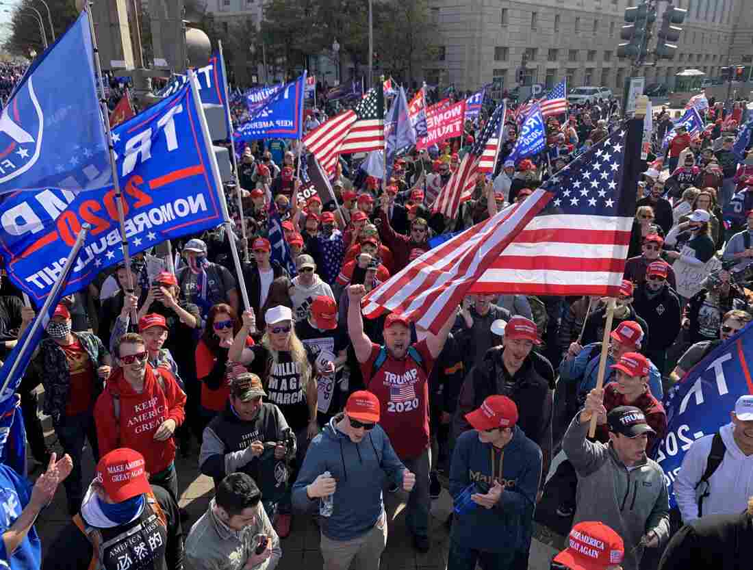 Trump Supporters Descend On Washington For Events Contesting Biden's Victory