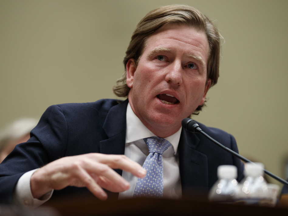 Christopher Krebs, director of the Cybersecurity and Infrastructure Security Agency, was fired by President Trump on Tuesday. (Carolyn Kaster/AP)