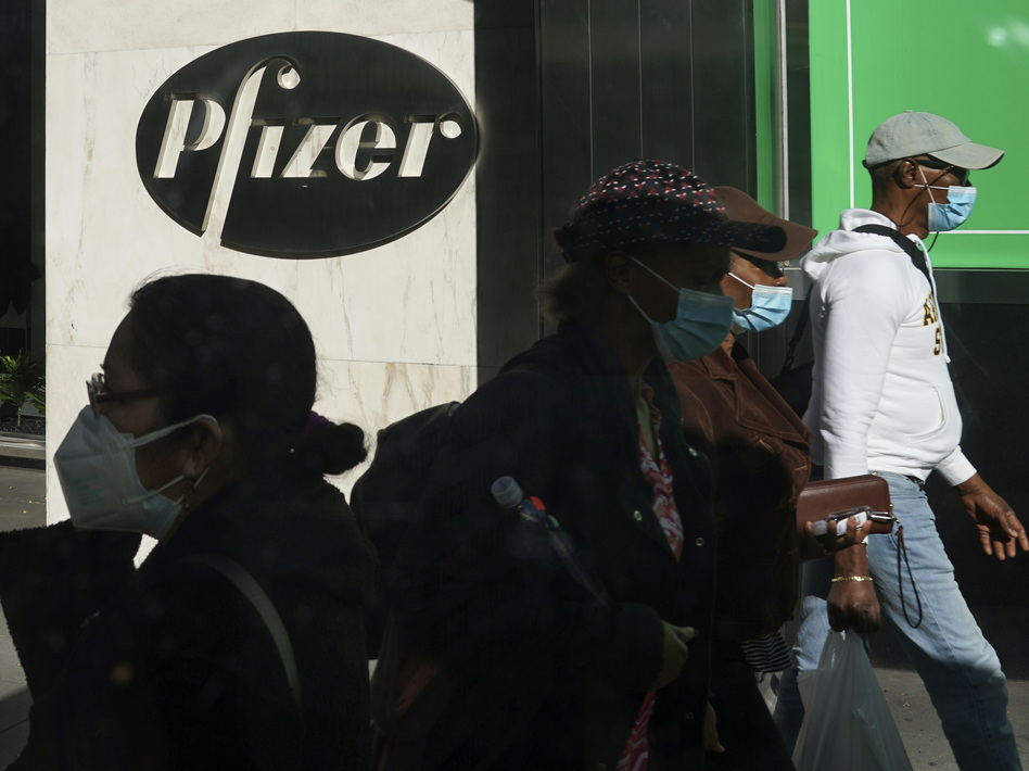 Pfizer plans to file within days with the Food and Drug Administration to allow emergency use of its COVID-19 vaccine. (Bebeto Matthews/AP)