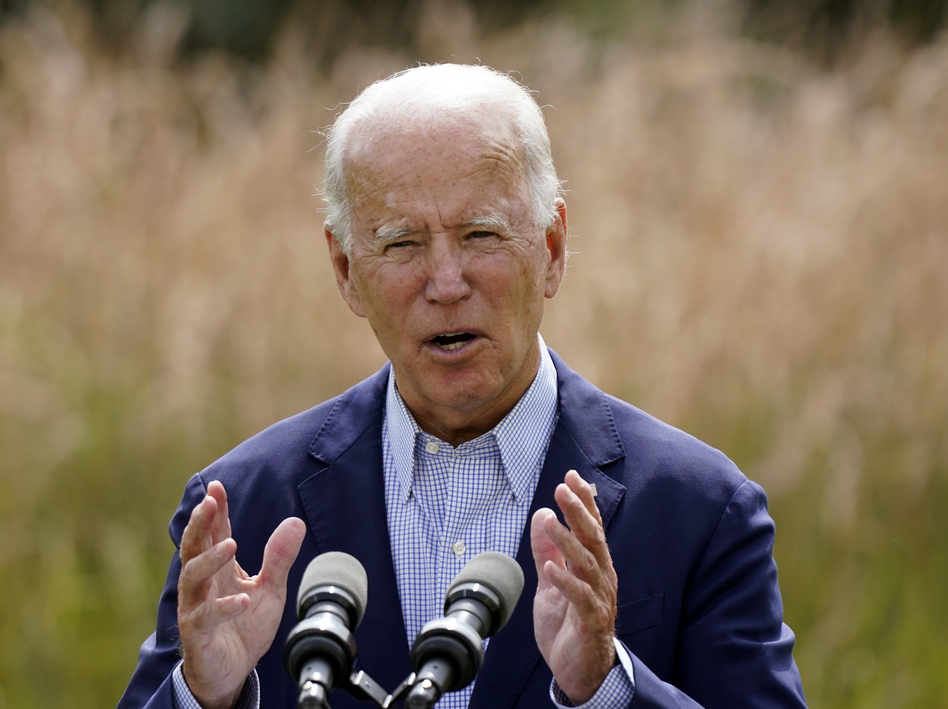 Joe Biden speaks about climate change and wildfires affecting Western states during a speech in Wilmington, Del., on Sept. 14. Although the president-elect has promised an ambitious agenda to tackle climate change, few expect a death knell for the oil industry. (Patrick Semansky/AP)