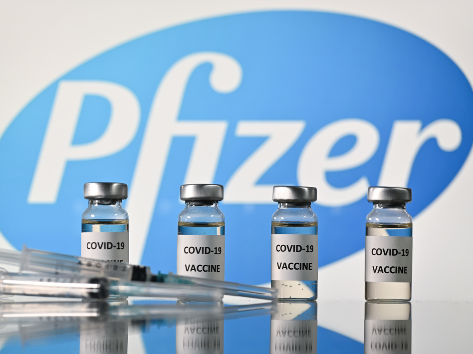The pharmaceutical giant Pfizer is formally requesting federal approval for emergency use of the company's COVID-19 vaccine (Justin Tallis/AFP via Getty Images)