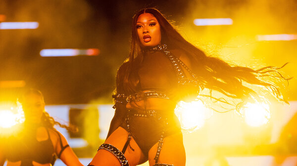 Megan Thee Stallion performs at Red Rocks Amphitheatre on September 02, 2020 in Morrison, Colorado.