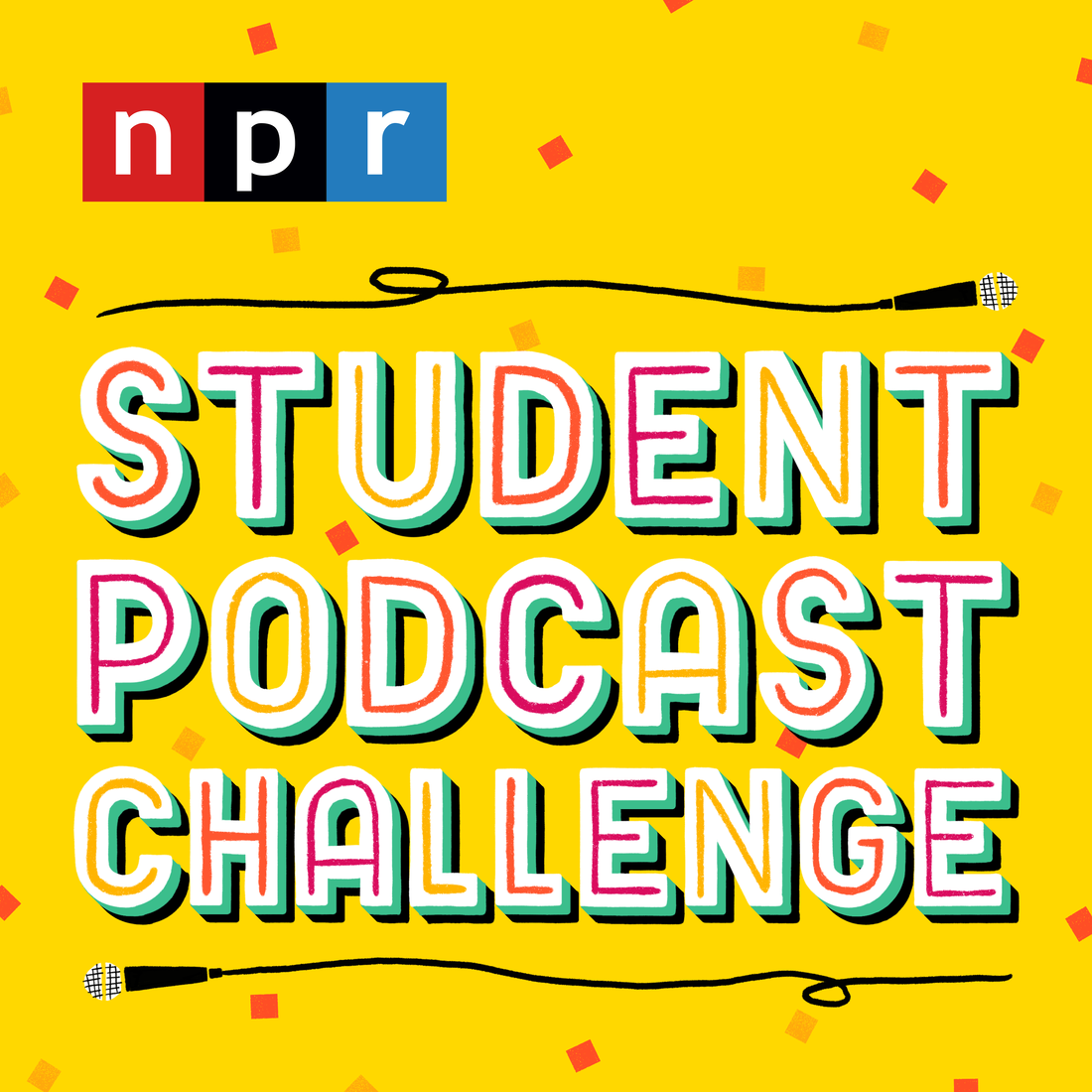 Logo for the Students' Podcast.