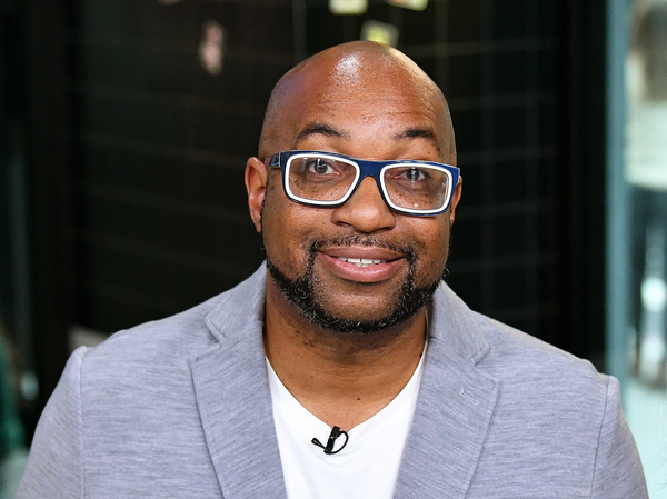 Morning Edition poet in residence Kwame Alexander on Oct. 23, 2018 in New York City.
