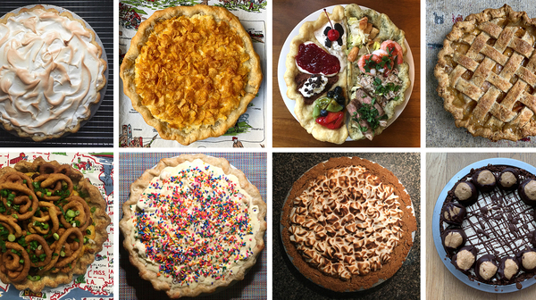 Stacey Mei Yan Fong has been baking her way across the United States: Clockwise from upper left, a baked Alaska pie, Utah