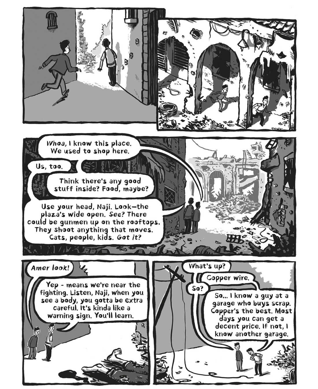 """A page from """"Welcome to the New World"""""""