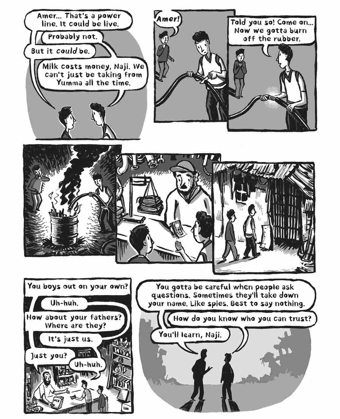 "A page from ""Welcome to the New World"""