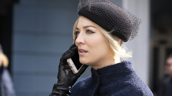 Kaley Cuoco plays the flight attendant in The Flight Attendant, a darkly funny thriller from HBO MAX.