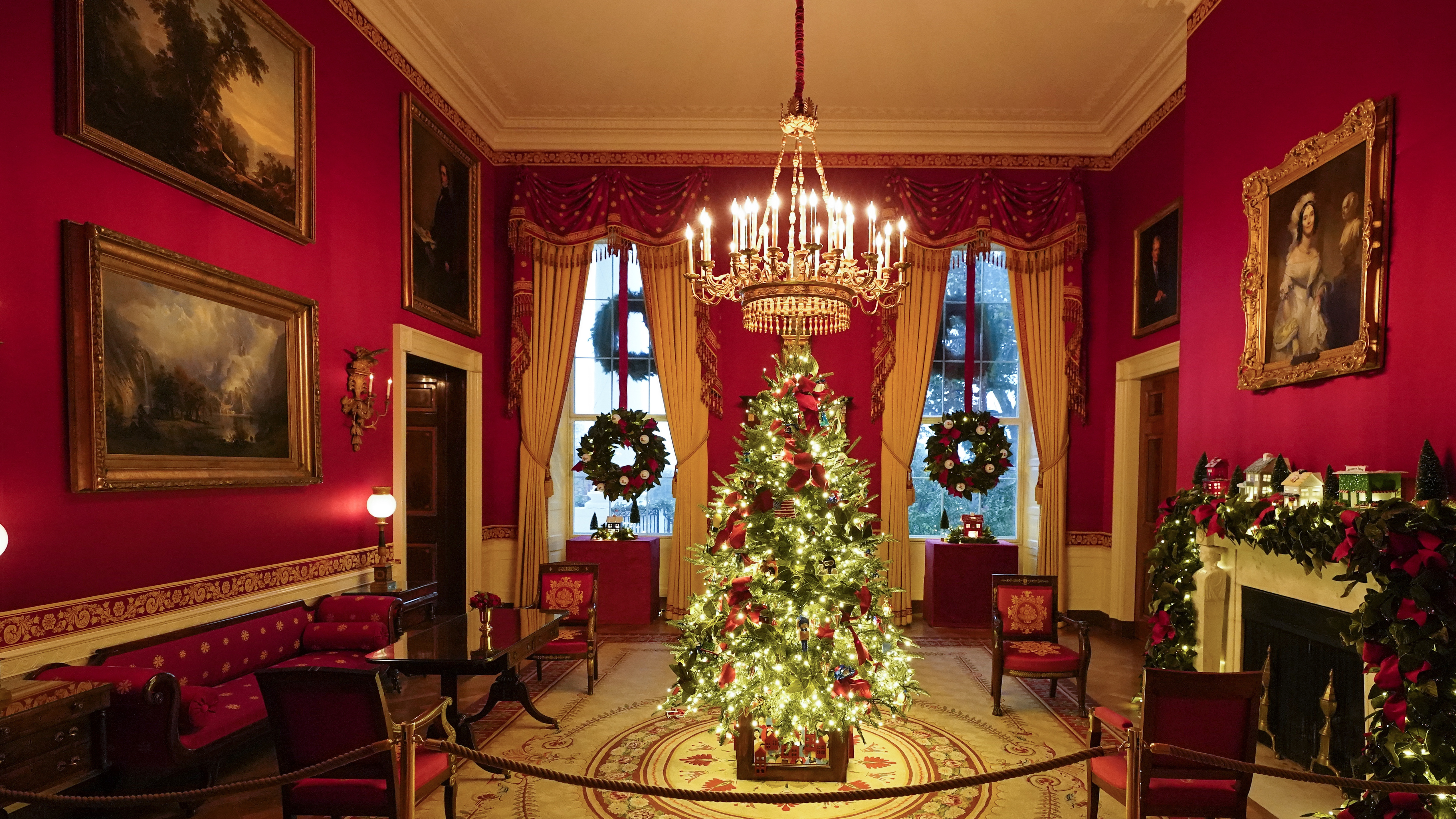 Youtube 2021 Merry Christmas By President Trump Melania Trump S 2020 Christmas Decorations Are Unconventionally Traditional Npr