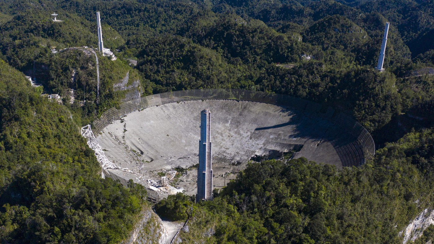 Arecibo Observatory Telescope Collapses, Ending An Era Of World-Class Research - NPR