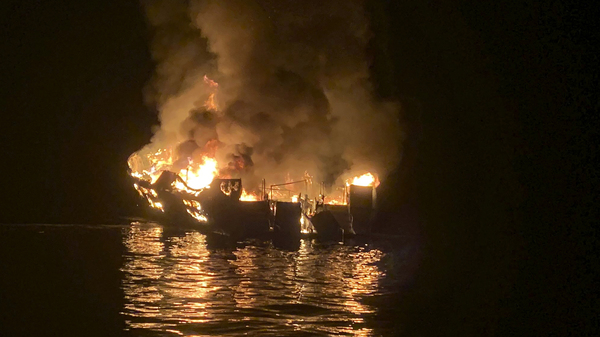 The captain of the dive boat that caught fire last September was charged with 34 counts of seaman
