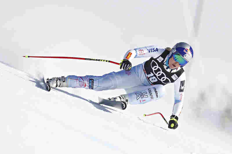 Lindsey Vonn of USA competes during the Audi FIS Alpine Ski World Cup Finals Men's and Women's Super G on March 15, 2018 in Are, Sweden.