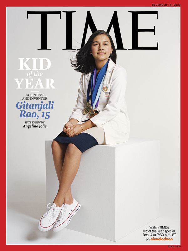 Gitanjali Rao, 15, is Time magazine's Kid of the Year for 2020. Rao has continued to work on solving problems through science, after gaining fame for creating a device to test lead levels in water.