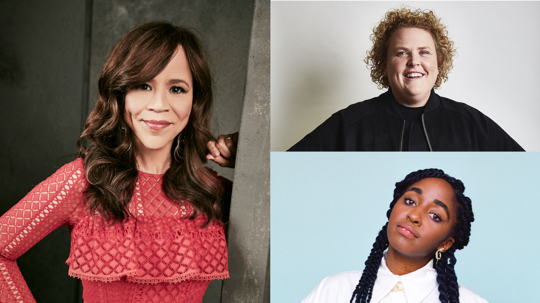 Rosie Perez, Fortune Feimster & Ayo Edebiri appear on Ask Me Another.