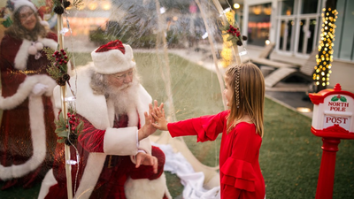 Santa Claus Is Coming To Town ... In Plastic Bubbles And Socially Distant Sleighs