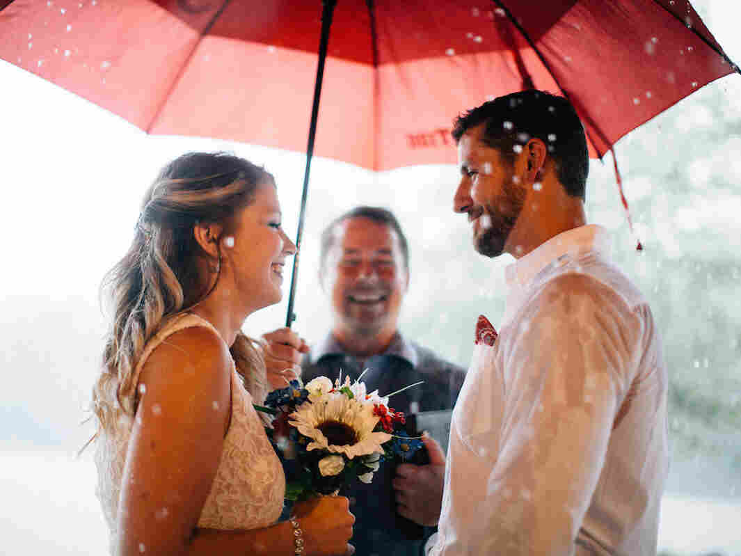Jon-Paul Brown officiates a marriage.