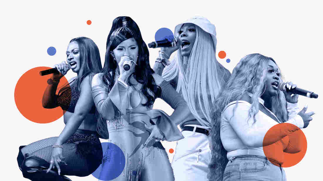 Megan Thee Stallion, Cardi B, Rico Nasty, CupcakKe.