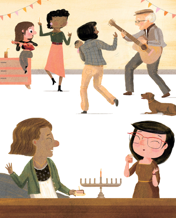 From The Ninth Night of Hanukkah, by Erica S. Perl and Shahar Kober