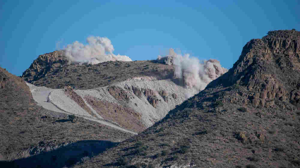 Contractors Dynamite Mountains, Bulldoze Desert In Race To Build Trump's Border Wall