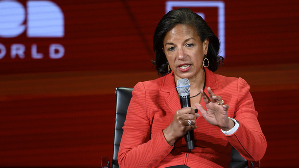Former U.S. National Security Advisor Susan Rice, seen here at a 2019 Women in the World Summit in New York City, is Biden