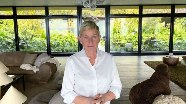 Ellen DeGeneres, appearing in a Fox television special benefitting pandemic relief in March.