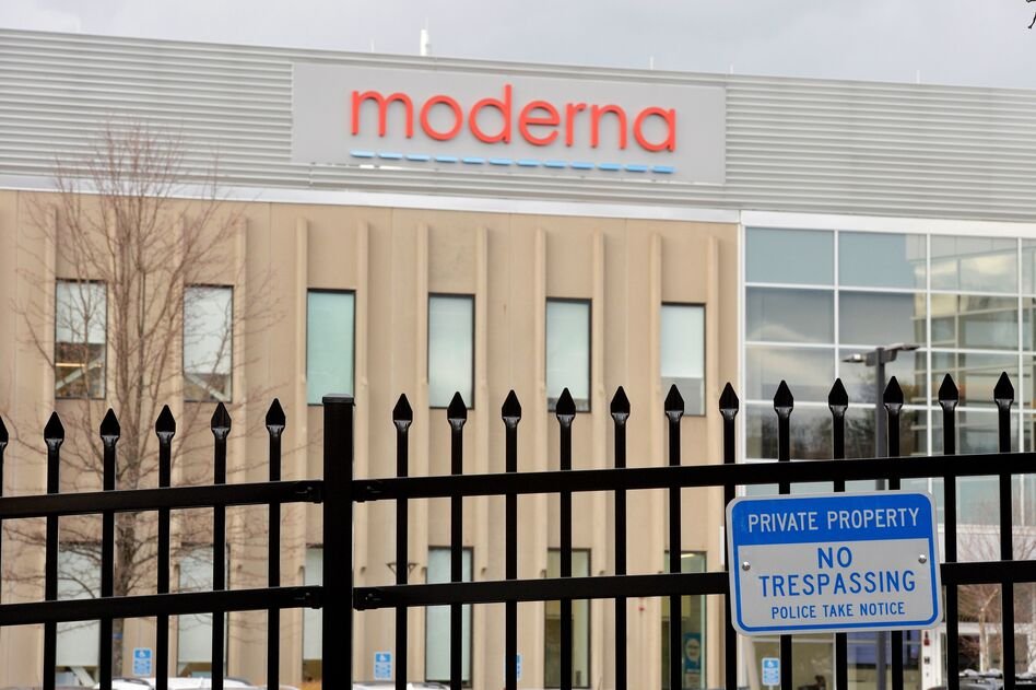 Moderna is making its COVID-19 vaccine at a company factory in Norwood, Mass. (Joseph Prezioso/AFP via Getty Images)
