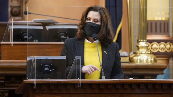 Michigan Gov. Gretchen Whitmer addresses the state