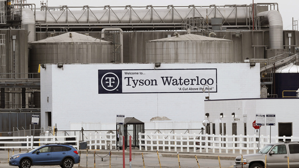 Tyson Foods has fired seven managers at its plant in Waterloo, Iowa, who were allegedly involved in a betting pool guessing how many workers there would get COVID-19.