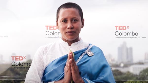 JayaShri Maathaa speaks at TEDWomen 2020. November 12, 2020. Photo courtesy of TED.