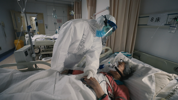A scene from 76 Days, a new documentary about frontline health workers and patients during Wuhan