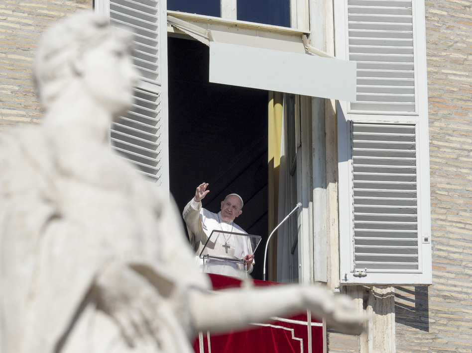 """The Vatican said Monday that it is """"morally acceptable"""" to use COVID-19 vaccines, even if they used """"cell lines from aborted fetuses in their research and production process."""" Pope Francis, who approved the statement, is seen here in January. (Andrew Medichini/AP)"""