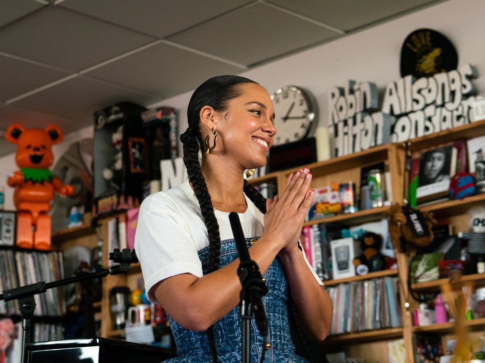 Alicia Keys performed her Tiny Desk concert on Feb. 2, 2020. (Kisha Ravi/NPR)