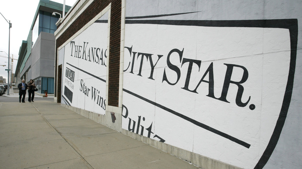 A mural on the wall of The Kansas City Star