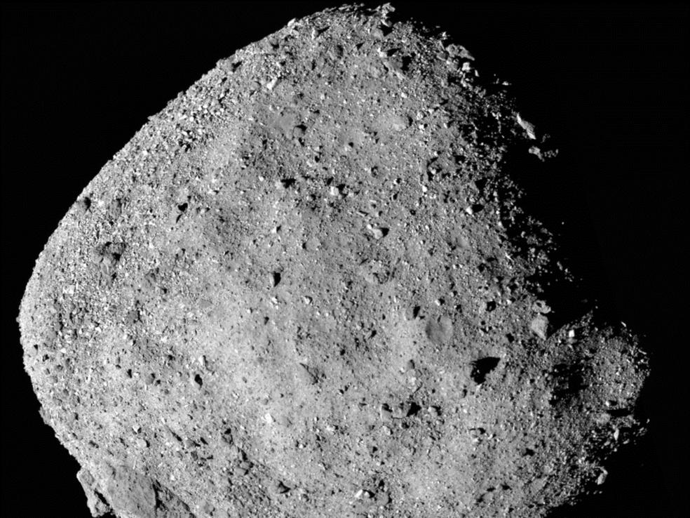 Mosaic image of asteroid Bennu.