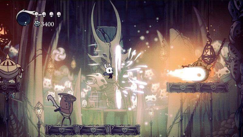Em Hollow Knight , você explora um reino subterrâneo infestado de insetos.