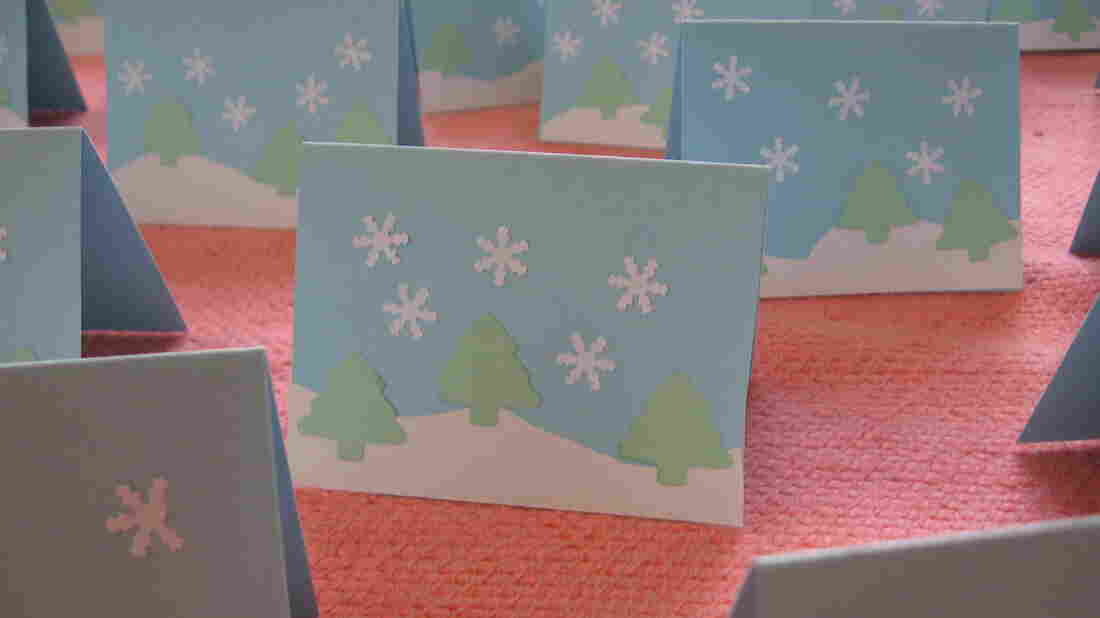A forest of Christmas cards.