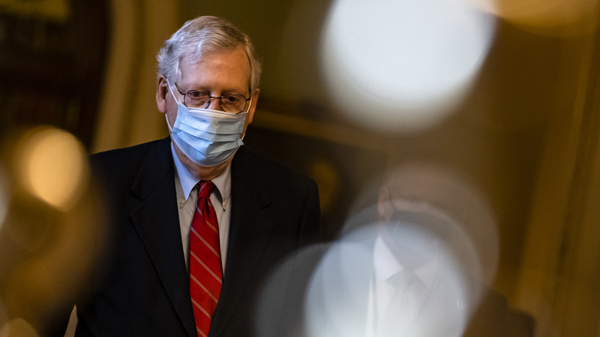Senate Majority Leader Mitch McConnell, R-Ky., pictured on Capitol Hill on Dec. 20, has blocked an attempt to have senators vote on increasing direct coronavirus relief payments.