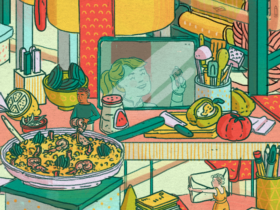 Make video calls less about conversation and more about activities, says psychologist Vaile Wright. Whether it's cooking together or simultaneously watching a movie with an out-of-town friend, these kinds of interactions build memories.