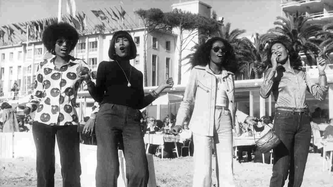 The Pointer Sisters in Cannes, France, circa 1970.
