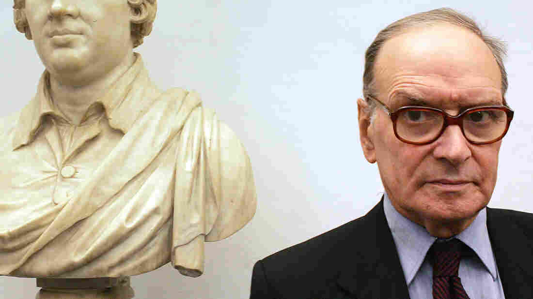 Ennio Morricone poses in January 2005.