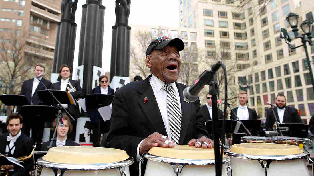 Candido Camero performs at the Duke Ellington 115th Birthday commemoration in 2014 in New York City.