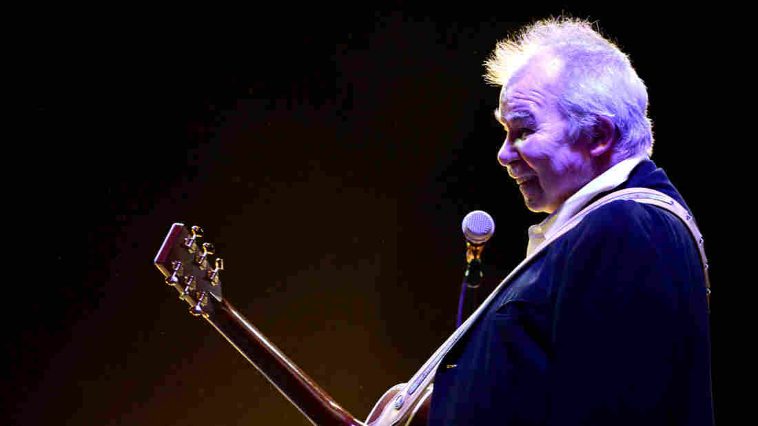 John Prine, who died on April 7, 2020 of complications from Covid-19, shown here performing in California in 2014.