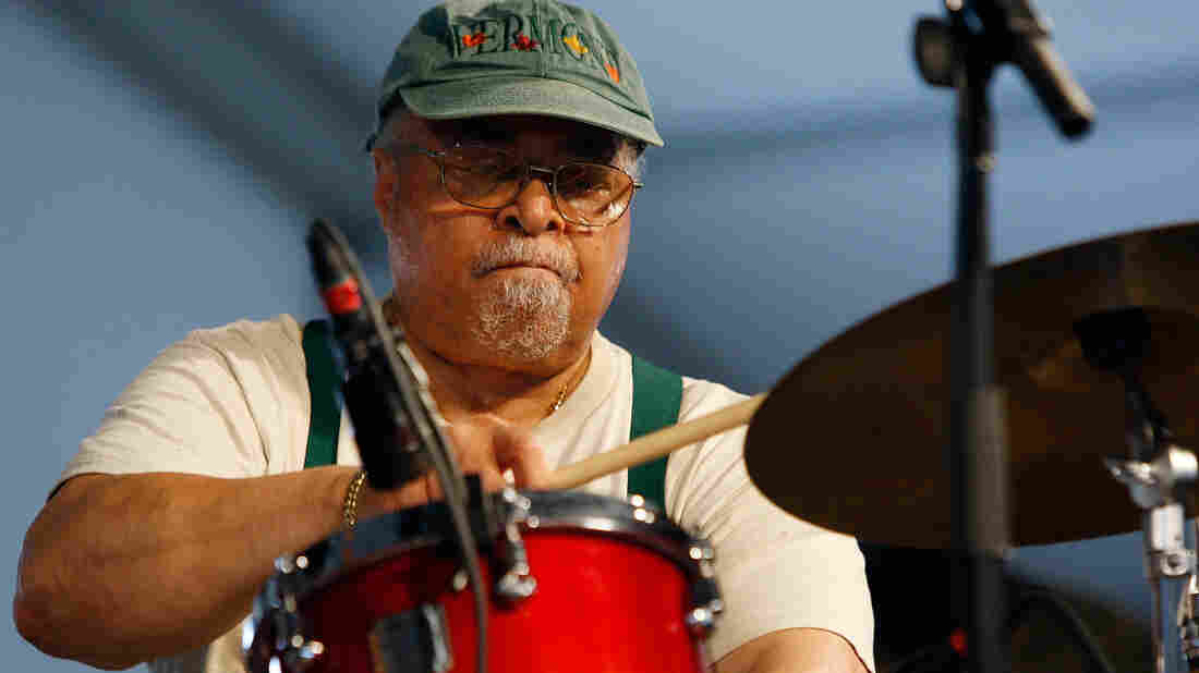 Jimmy Cobb performs in the 2009 New Orleans Jazz & Heritage Festival.