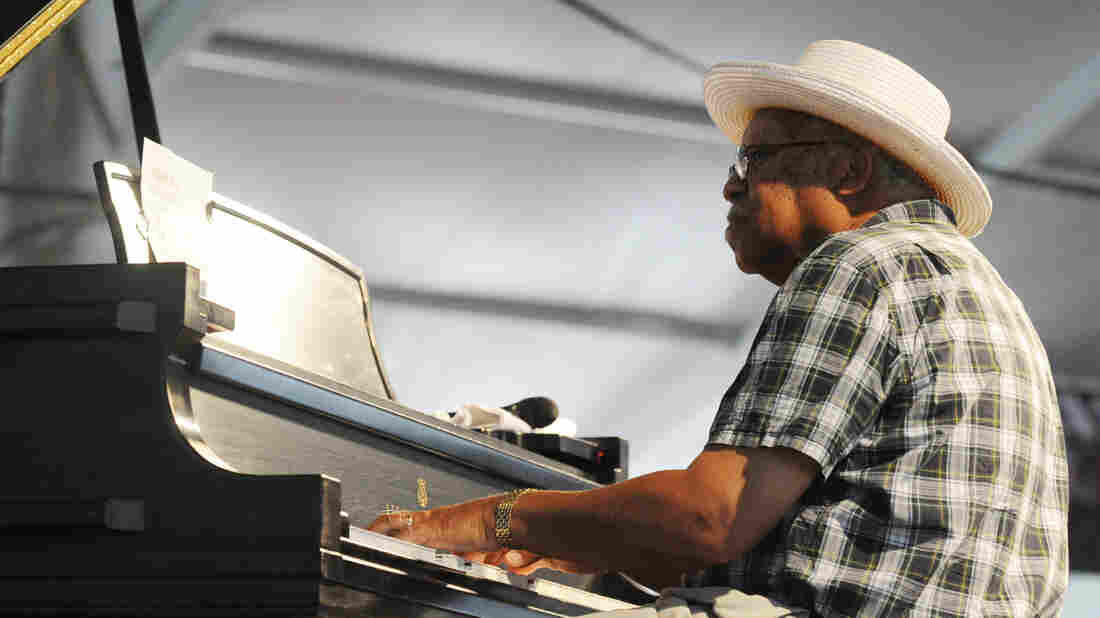 Ellis Marsalis performs at the 2009 New Orleans Jazz & Heritage Festival at the Fair Grounds Race Course.