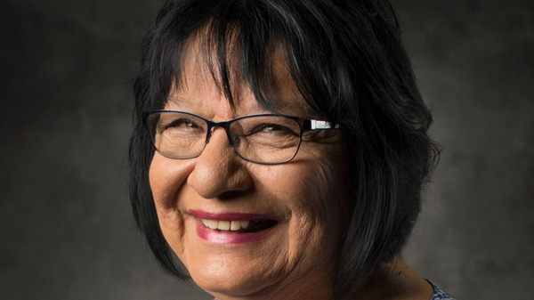 Meda Nix, 72, teaches Cherokee to fifth graders.