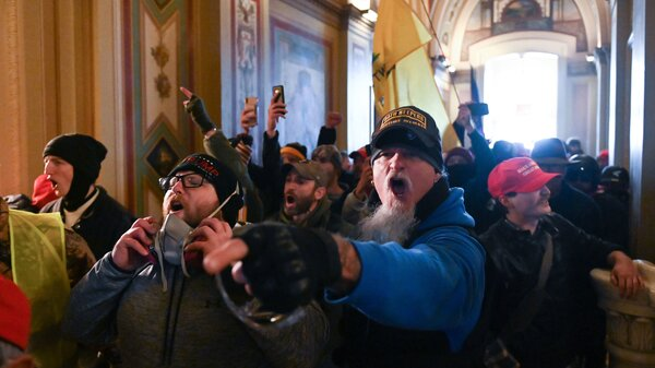 Demonstrators breached security and entered the Capitol on Wednesday as Congress debated the 2020 electoral vote tally.